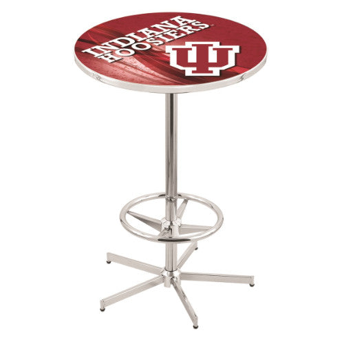 "42"" Chrome Indiana Pub Table with 28"" Dia Top by Holland Bar Stool ; UPC: 071235828561"