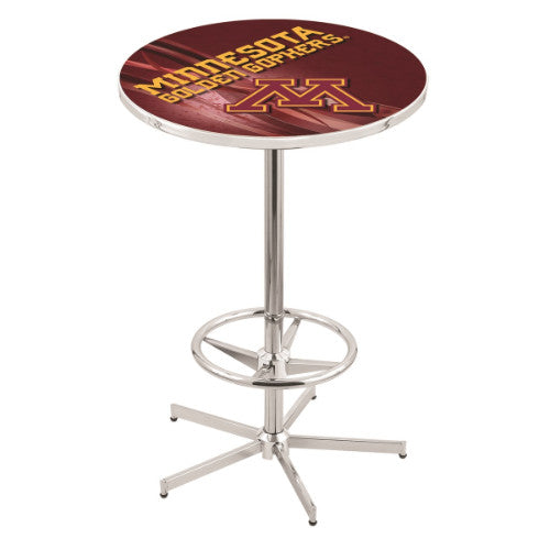 "42"" Chrome Minnesota Pub Table (Design 2) with 36"" Dia Top by HBS ; UPC: 071235860455"