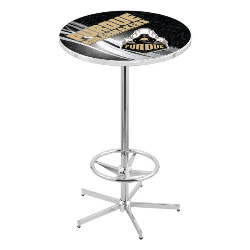 "42"" Chrome Purdue Pub Table (Design 2) with 36"" Dia Top by HBS ; UPC: 071235860868"