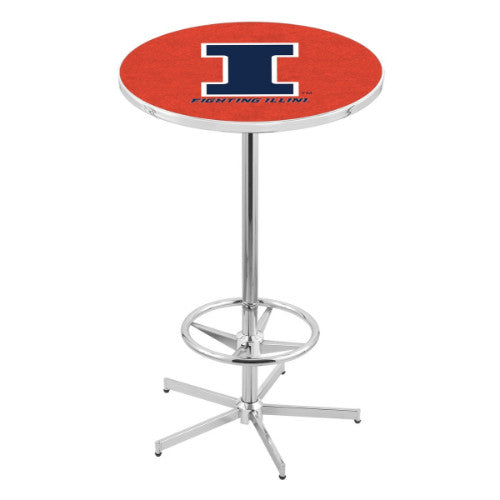 "42"" Chrome Illinois Pub Table with 36"" Dia Top by Holland Bar Stool ; UPC: 071235816100"