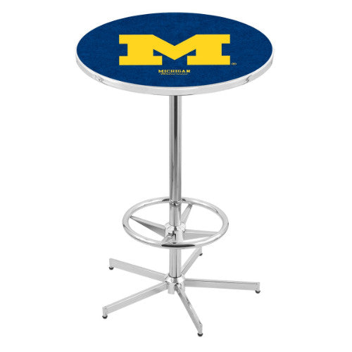 "42"" Chrome Michigan Pub Table with 36"" Dia Top by Holland Bar Stool ; UPC: 071235816339"