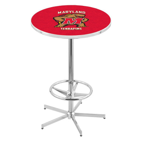 "42"" Chrome Maryland Pub Table by Holland Bar Stool ; UPC: 071235040710"