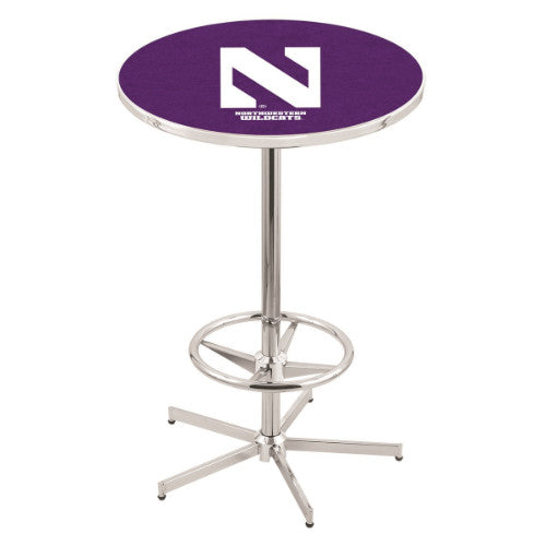 "42"" Chrome Northwestern Pub Table by Holland Bar Stool ; UPC: 071235040321"