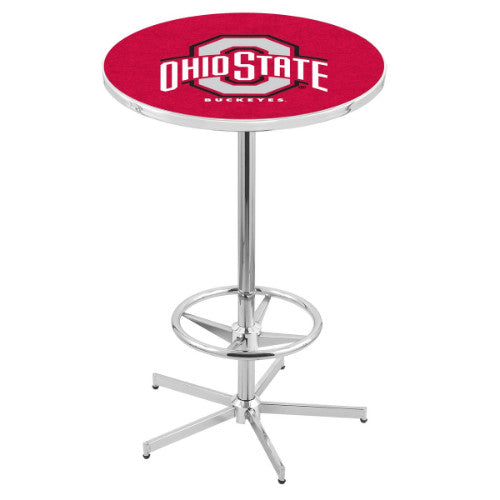 "42"" Chrome Ohio State Pub Table by Holland Bar Stool ; UPC: 071235040369"