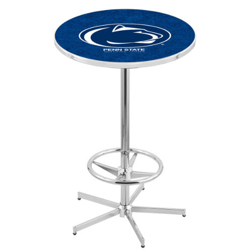 "42"" Chrome Penn State Pub Table with 36"" Dia Top by HBS ; UPC: 071235816711"
