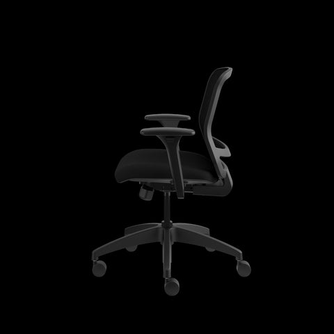 HON Quotient Mid-Back Task Chair with Mesh Back, in Black (HQTMM) ; UPC: 089192690589 ; Image 5