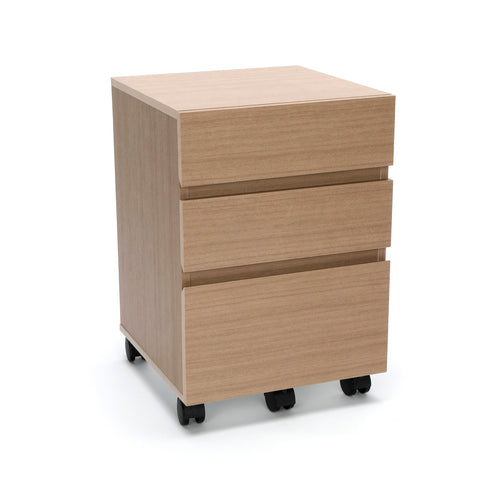 OFM Essentials 3-Drawer Wheeled Mobile Pedestal Cabinet, Harvest (ESS-1030-HVT) ; UPC: 845123090619 ; Image 1