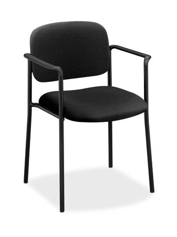 HON Scatter Guest Chair - Upholstered Stacking Chair with Arms, Office Furniture, Black (VL616) ; UPC: 645162996220 ; Image 1