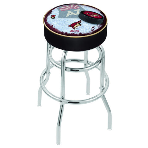 "25"" Arizona yotes Cushion Seat with Double-Ring Chrome Base (Design 2) Swivel Bar Stool by Holland Bar Stool mpany ; UPC: 071235064037"