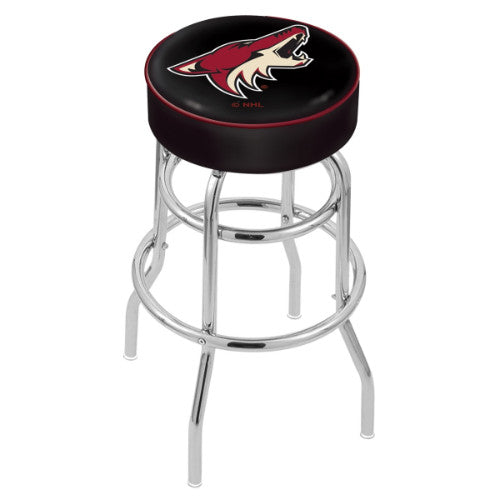 "30"" Arizona yotes Cushion Seat with Double-Ring Chrome Base Swivel Bar Stool by Holland Bar Stool mpany ; UPC: 071235062873"