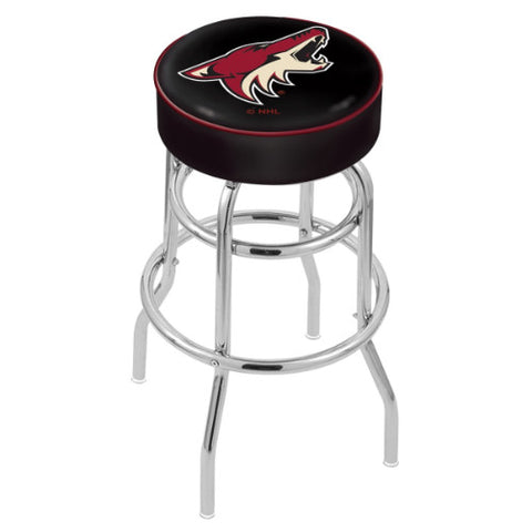 "25"" Arizona yotes Cushion Seat with Double-Ring Chrome Base Swivel Bar Stool by Holland Bar Stool mpany ; UPC: 071235062866"