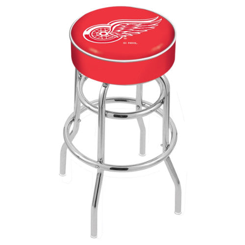 "30"" Detroit Red Wings Cushion Seat with Double-Ring Chrome Base Swivel Bar Stool by Holland Bar Stool mpany ; UPC: 071235062613"