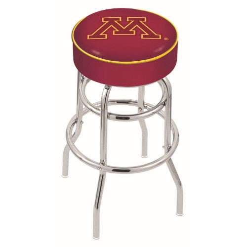 "30"" Minnesota Cushion Seat with Double-Ring Chrome Base Swivel Bar Stool by Holland Bar Stool Company ; UPC: 071235061494"