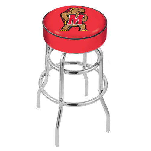 "30"" Maryland Cushion Seat with Double-Ring Chrome Base Swivel Bar Stool by Holland Bar Stool Company ; UPC: 071235061418"