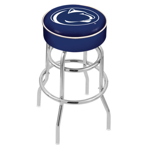 "30"" Penn State Cushion Seat with Double-Ring Chrome Base Swivel Bar Stool by Holland Bar Stool Company ; UPC: 071235060794"