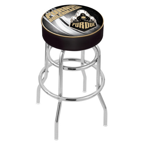 "25"" Purdue (Design 2) Cushion Seat with Double-Ring Chrome Base Swivel Bar Stool by Holland Bar Stool Company ; UPC: 071235065171"