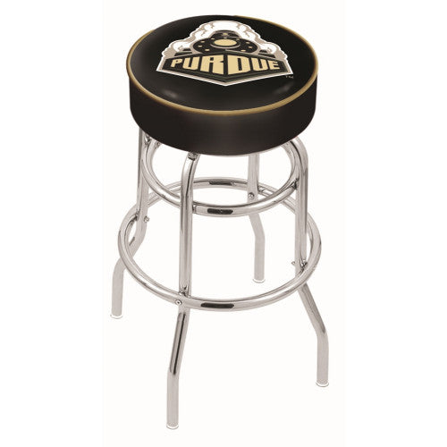 "30"" Purdue Cushion Seat with Double-Ring Chrome Base Swivel Bar Stool by Holland Bar Stool Company ; UPC: 071235060817"