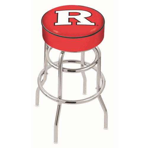 "30"" Rutgers Cushion Seat with Double-Ring Chrome Base Swivel Bar Stool by Holland Bar Stool Company ; UPC: 071235060831"