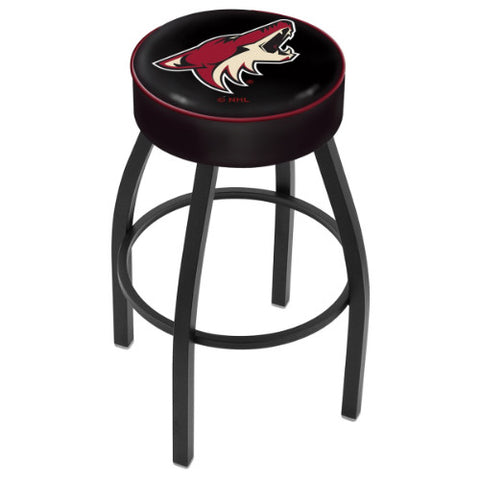 "30"" Arizona yotes Cushion Seat with Black Wrinkle Base Swivel Bar Stool by Holland Bar Stool mpany ; UPC: 071235092870"