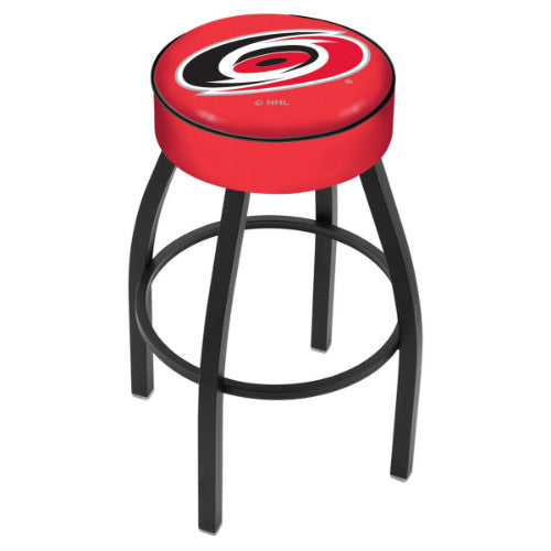 "25"" Carolina Hurricanes Cushion Seat with Black Wrinkle Base Swivel Bar Stool by Holland Bar Stool mpany ; UPC: 071235092481"