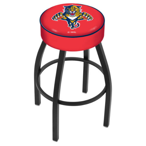 "25"" Florida Panthers Cushion Seat with Black Wrinkle Base Swivel Bar Stool by Holland Bar Stool mpany ; UPC: 071235092641"
