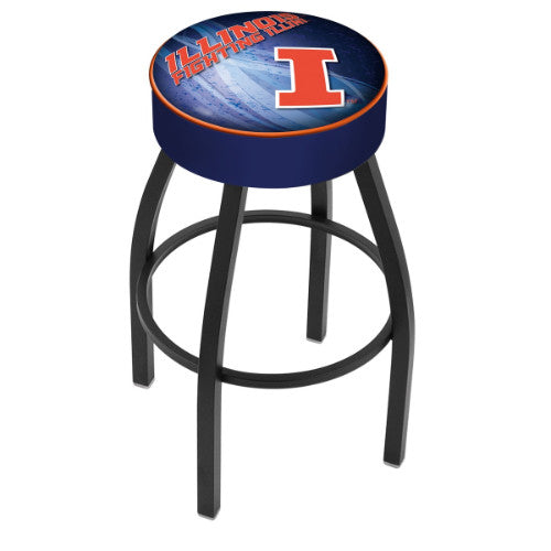 "30"" Illinois (Design 2) Cushion Seat Swivel Bar Stool by Holland Bar Stool Company ; UPC: 071235096243"