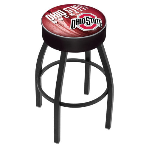 "30"" Ohio State (Design 2) Cushion Seat Swivel Bar Stool by Holland Bar Stool Company ; UPC: 071235096779"