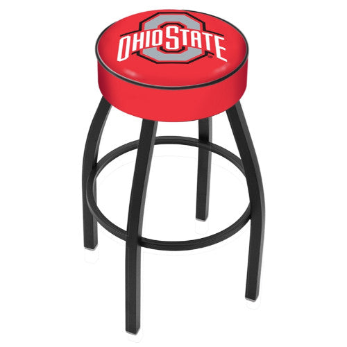 "30"" Ohio State Cushion Seat Swivel Bar Stool by Holland Bar Stool Company ; UPC: 071235090715"