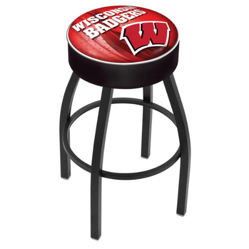 "30"" Wisconsin (Design 2) ""W"" Cushion Seat Swivel Bar Stool by Holland Bar Stool Company ; UPC: 071235097325"