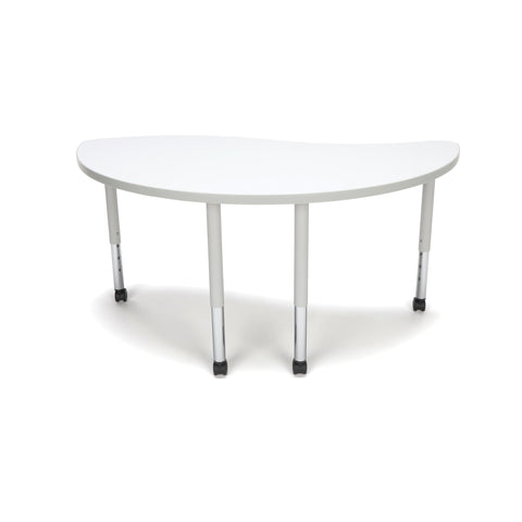 OFM Adapt Series Ying Student Table - 20-28? Height Adjustable Desk with Casters, White (YING-SLC) ; UPC: 845123096819 ; Image 2