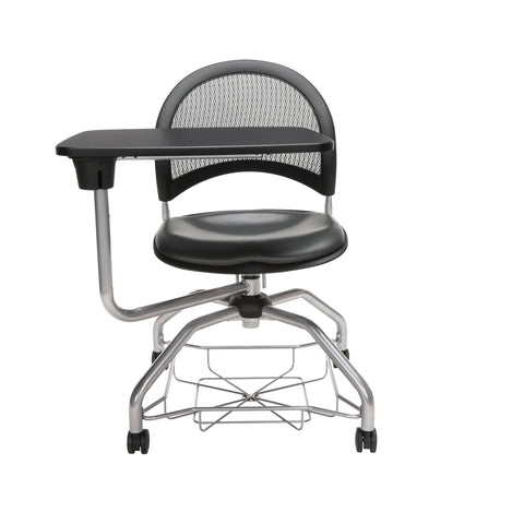 OFM Moon Foresee Series Tablet Chair with Removable Vinyl Seat Cushion - Student Desk Chair, Charcoal (339T-VAM) ; UPC: 845123094761 ; Image 2
