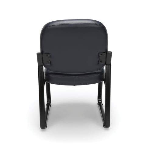 OFM Model 405-VAM Armless Guest and Reception Chair, Anti-Microbial/Anti-Bacterial Vinyl, Navy ; UPC: 811588014354 ; Image 3