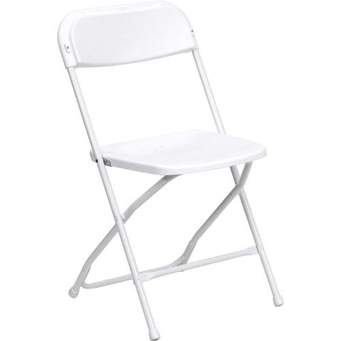 Flash Furniture HERCULES Series 650 lb. Capacity Premium White Plastic Folding Chair LEL3WHITEGG ; Image 1 ; UPC 812581018400