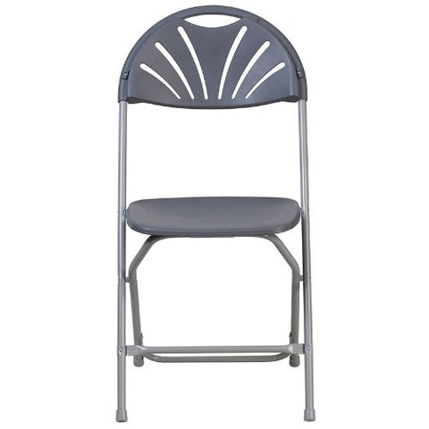 Flash Furniture HERCULES Series 650 lb. Capacity Charcoal Plastic Fan Back Folding Chair LEL4CHGG ; Image 5 ; UPC 889142090786