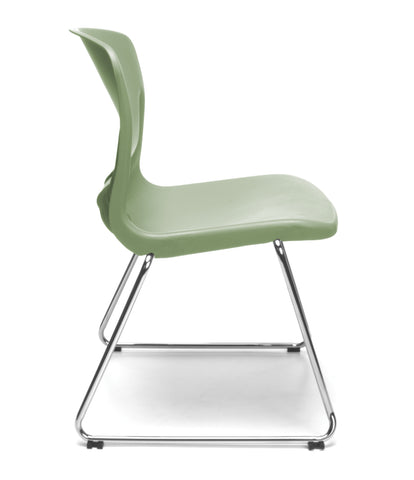 OFM Model 315 Multi-Use Stack Chair, Plastic Seat and Back, Olive ; UPC: 845123034774 ; Image 4