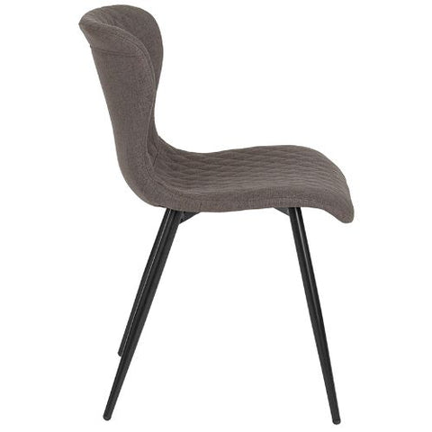 Flash Furniture Bristol Contemporary Upholstered Chair in Gray Fabric LF907AGRYFGG ; Image 2 ; UPC 889142339939