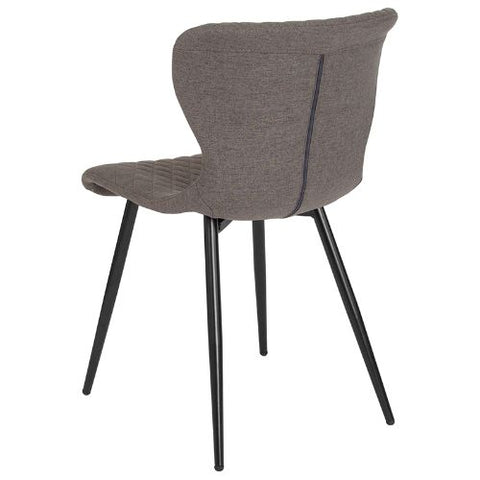 Flash Furniture Bristol Contemporary Upholstered Chair in Gray Fabric LF907AGRYFGG ; Image 3 ; UPC 889142339939