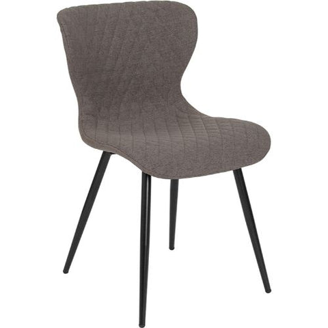 Flash Furniture Bristol Contemporary Upholstered Chair in Gray Fabric LF907AGRYFGG ; Image 1 ; UPC 889142339939