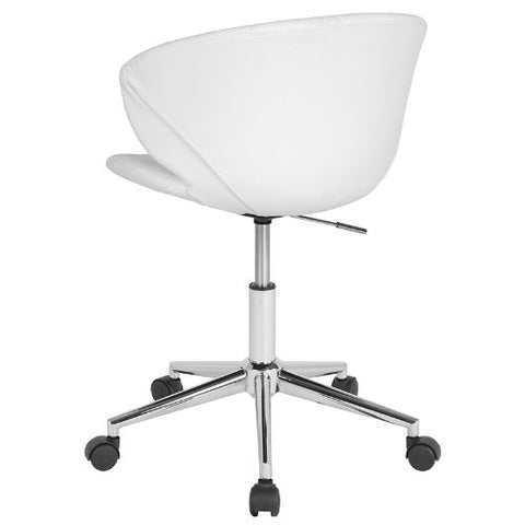 Flash Furniture Cambridge Home and Office Upholstered Low Back Chair in White Vinyl LF917WHGG ; Image 3 ; UPC 889142340225