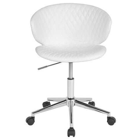 Flash Furniture Cambridge Home and Office Upholstered Low Back Chair in White Vinyl LF917WHGG ; Image 4 ; UPC 889142340225