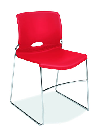 HON Olson High-Density Stacking Chair, Set of 4, in Cherry (H4041) ; UPC: 791579582034 ; Image 1