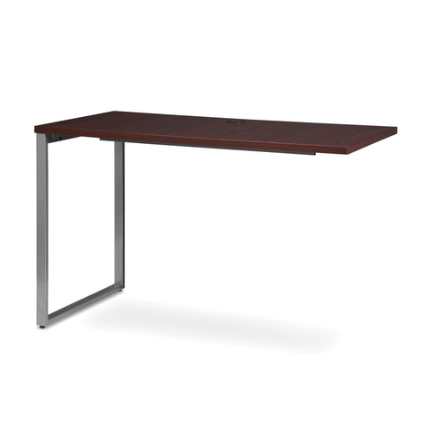 OFM Fulcrum Series 48x24 Return Desk, Office Desk Return, Mahogany (CL-R4824-MHG) ; UPC: 845123097373 ; Image 6