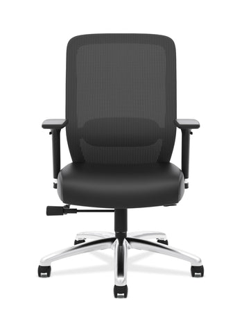 HON Exposure Mesh Task Chair - Mesh High-Back Computer Chair with Leather Seat for Office Desk, Black (HVL721) ; UPC: 089191242994 ; Image 2