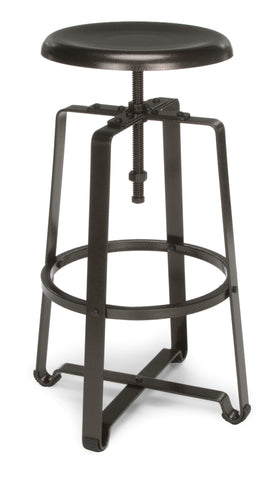 OFM Endure Series Model 920 Stationary Tall Stool, Dark Vein Metal Seat and Frame ; UPC: 845123021279 ; Image 1