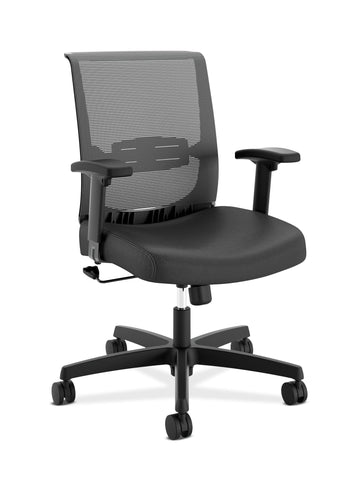 HON Convergence Task Chair -  Computer Chair for Office Desk, Black Vinyl (HCT1MM) ; UPC: 191734844029 ; Image 1