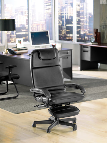 OFM Model 680 Ergonomic High-Back Executive Reclining Office Chair with Footrest, Anti-Microbial/Anti-Bacterial Vinyl, Black ; UPC: 811588015368 ; Image 5