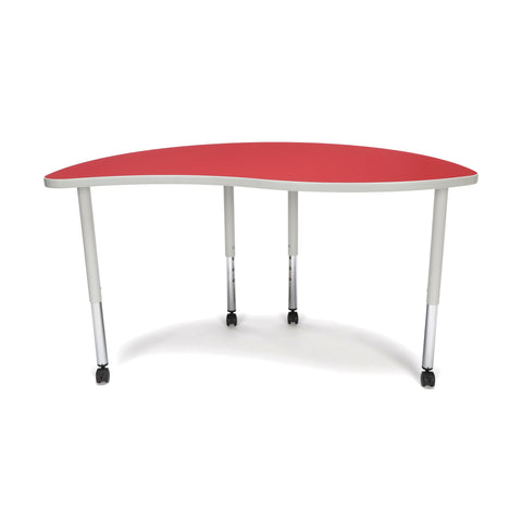 OFM Adapt Series Ying Standard Table - 25-33? Height Adjustable Desk with Casters, Red (YING-LLC) ; UPC: 845123096482 ; Image 3