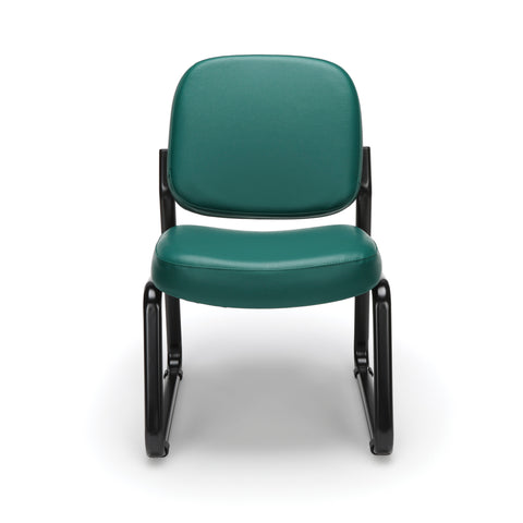 OFM Model 405-VAM Armless Guest and Reception Chair, Anti-Microbial/Anti-Bacterial Vinyl, Teal ; UPC: 811588014323 ; Image 2