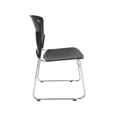 OFM Multi-Use Model 310-P Stack Chair with Plastic Seat and Back, Black ; UPC: 811588013876 ; Image 4