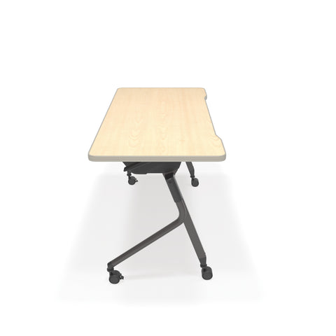 "OFM Mesa Series Model 66122 Flip Nesting Training Table and Desk, 23.5"" x 47.25"", Maple ; UPC: 845123080320 ; Image 4"